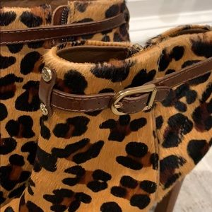 Tory Burch Shoes - Tory Burch Patricia hair-calf leopard booties